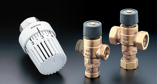 Thermostats, actuators, valves and fittings